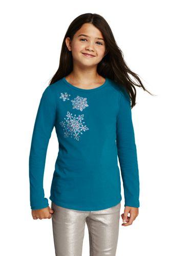 Le T-Shirt Graphique en Jersey à Motifs, Toute Petite Fille