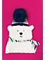 Toddler Girls' Fuzzy Polar Bear Sweatshirt