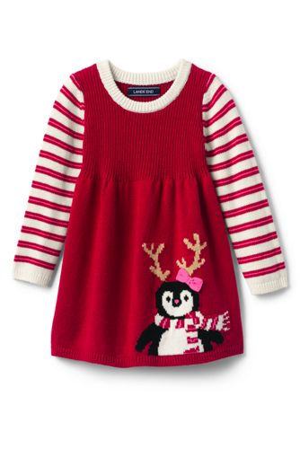 Toddler Girls' Penguin Sweater Dress