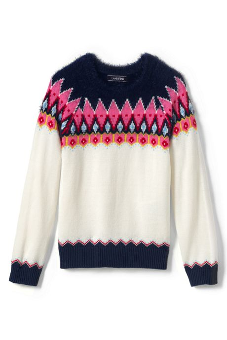 Girls Plus Fair Isle Sweater
