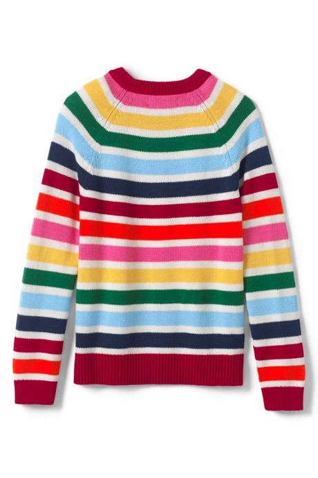Little Girls Multi Stripe Sweater