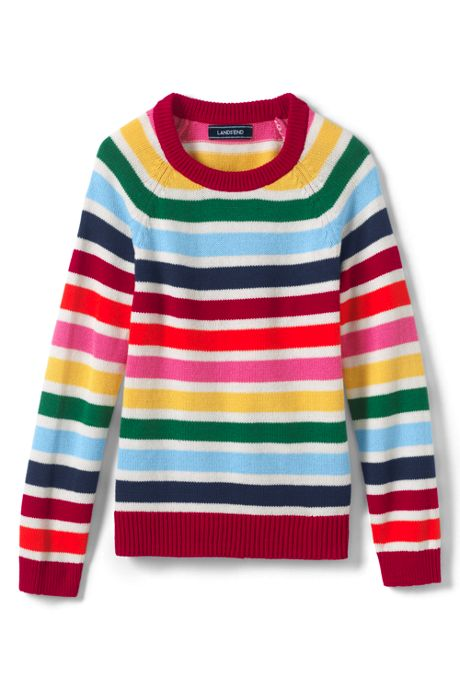 Girls Multi Stripe Sweater