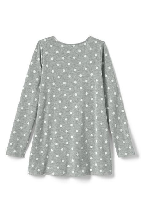 Girls Pattern Yoke Tunic Top