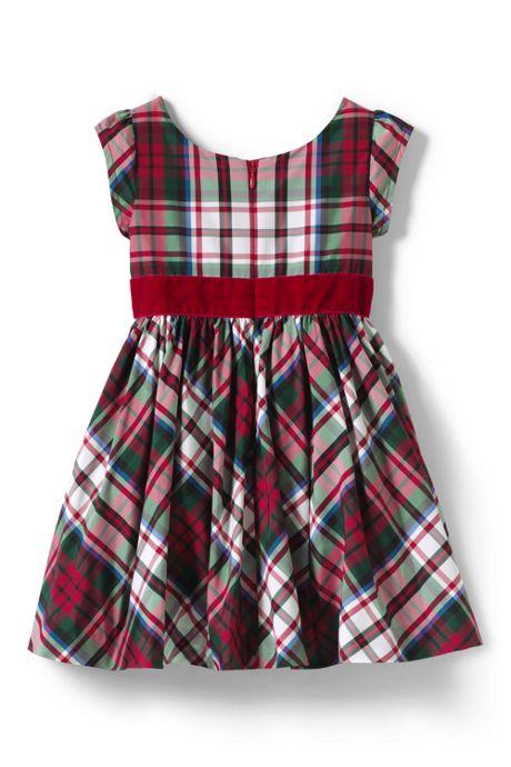 Toddler Girls Taffeta Christmas Dress