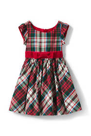 Toddler Girls Taffeta Christmas Dress