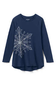 Girls Snowflake Tunic Top