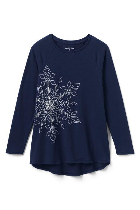 Girls Snowflake Tunic Top