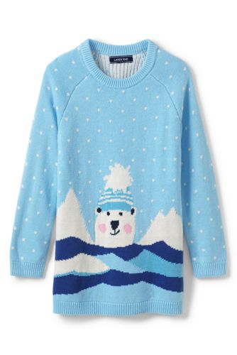 Little Girls' Polar Bear Tunic Jumper