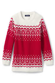 Girls Plus Fairisle Sweater Tunic Top
