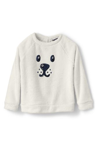 Toddler Girls' Cuddly Fleece Critter Sweatshirt