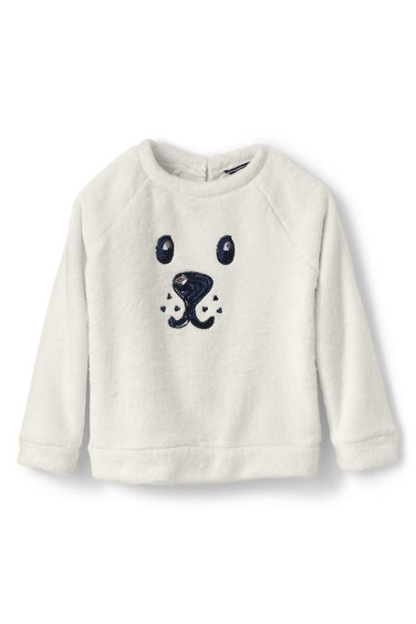 Little Girls Cozy Critter Sweatshirt