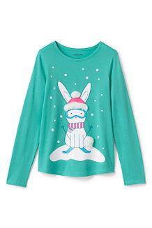 Grafik-Shirt Schneehäschen für Mädchen