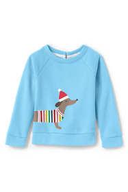 Toddler Girls Cozy Puppy Sweatshirt