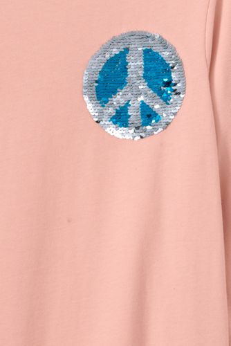 Girls Flip Sequin Graphic Tee