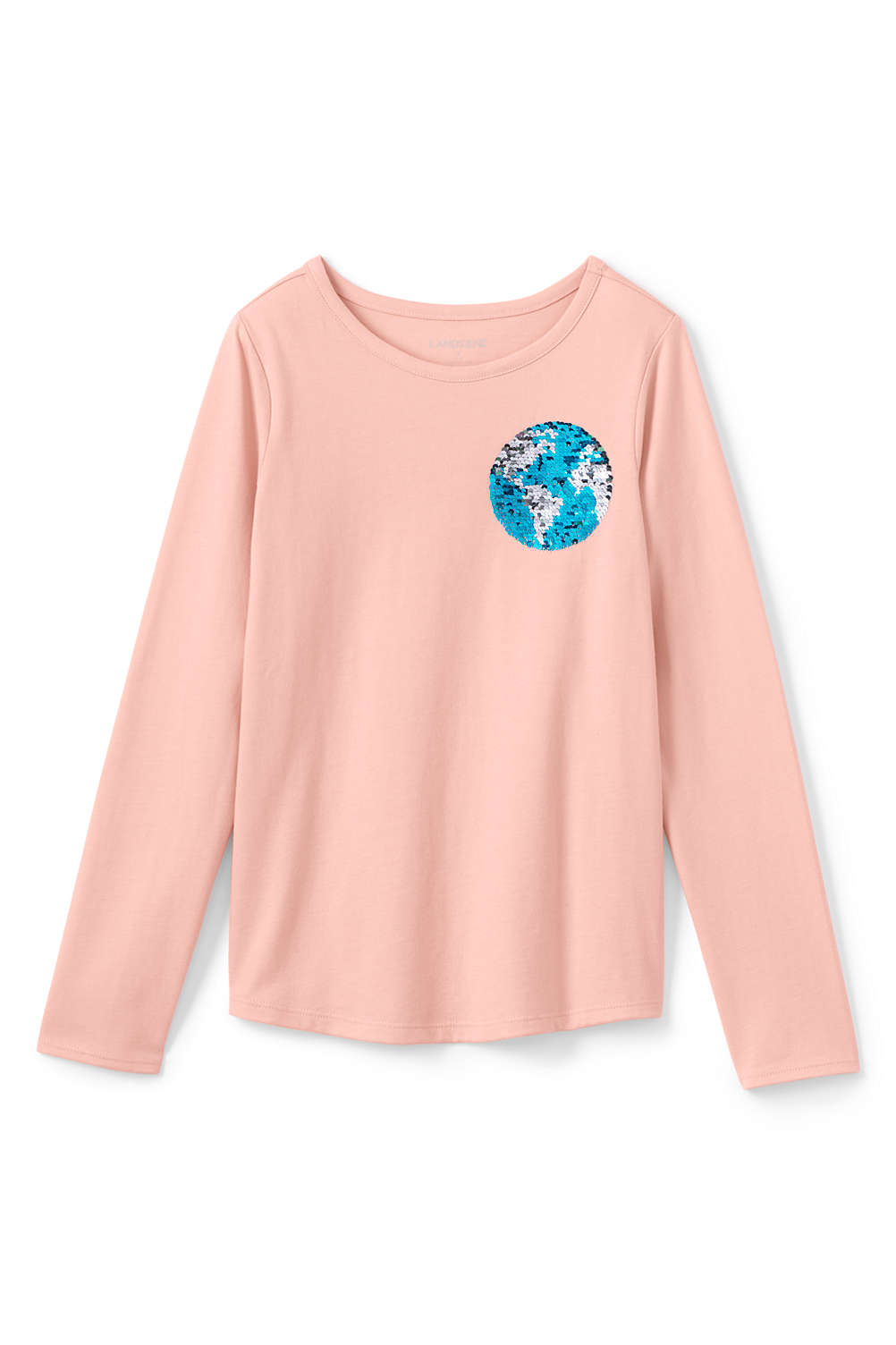 2308a1a0 Girls Flip Sequin Graphic Tee from Lands' End