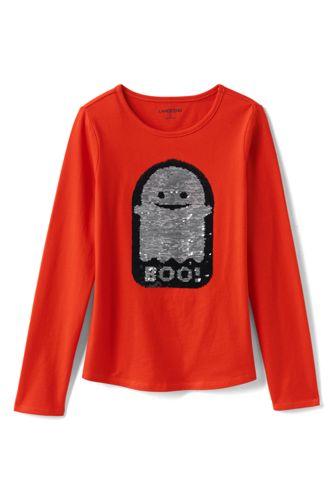 Le T-Shirt Graphique en Jersey à Paillettes Réversibles, Fille