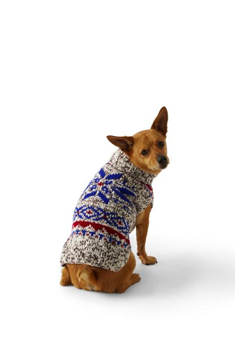 Dog Knit Fair Isle Christmas Sweater