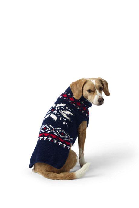 Dog Knit Fair Isle Christmas Sweater