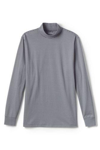 Men's Striped Super-T Polo Neck Top
