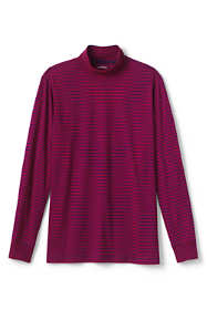 Men's Tall Stripe Super-T Mock Turtleneck