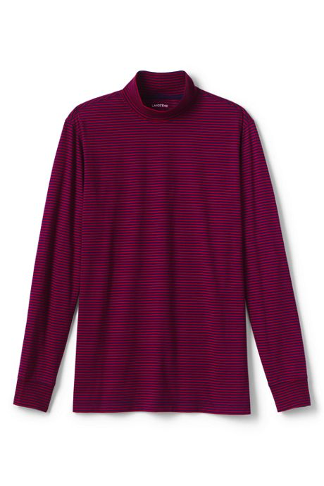 Men's Stripe Super-T Mock Turtleneck