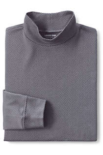 Men's Pattern Super Soft Supima Mock Turtleneck, alternative image