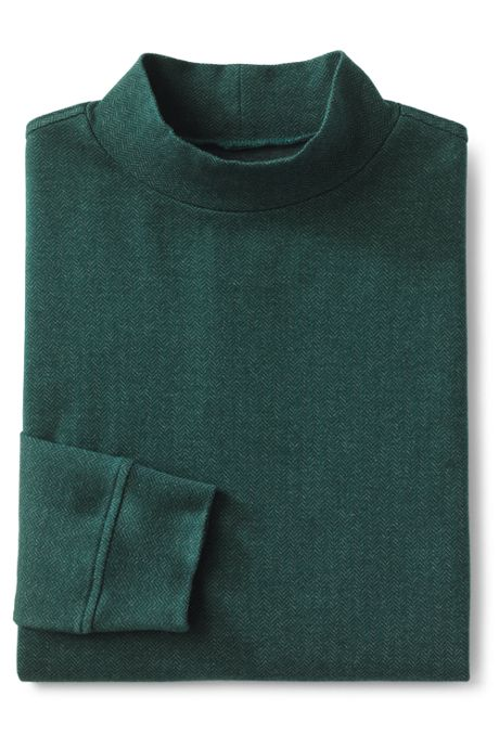 Men's Tall Pattern Supima Mock Turtleneck
