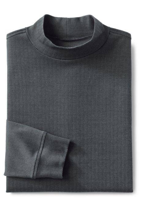 Men's Pattern Super Soft Supima Mock Turtleneck