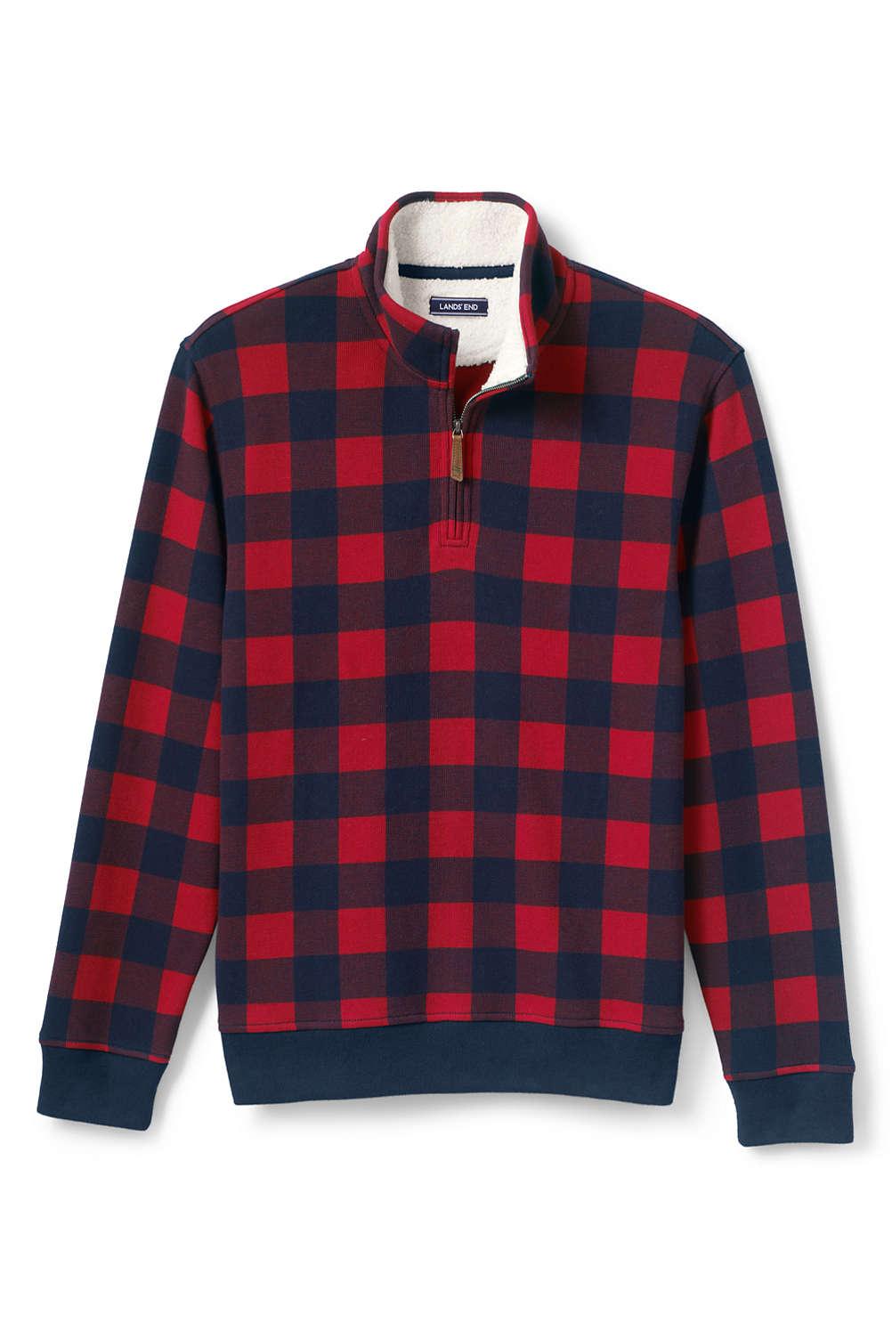 802378614d463 Men s Pattern Bedford Rib Quarter Zip Sweater from Lands  End