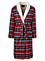 Men's Sherpa-lined Flannel Dressing Gown