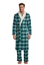 Men's Sherpa Lined Flannel Robe