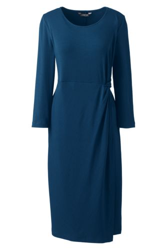 La Robe Taille Nouée en Coton Modal Stretch, Femme Stature Standard