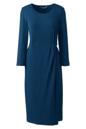 Women's Knotted Wrap Jersey Dress