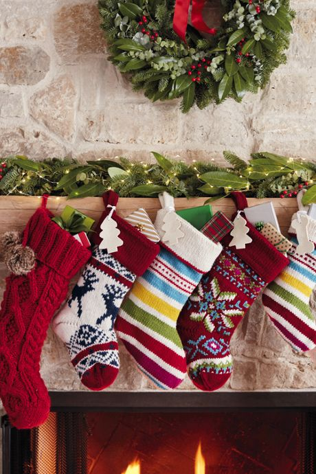 Cable Knit Pom Christmas Stocking
