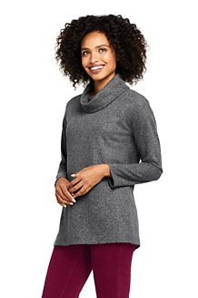 Wollmix-Pullover mit weitem Kragen für Damen