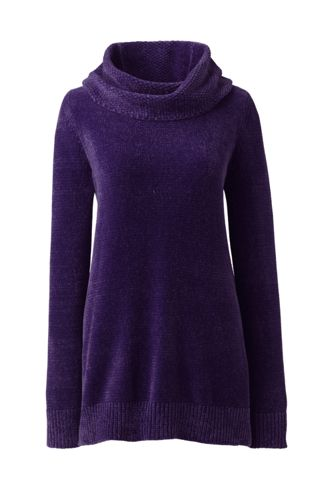 Women's Petite Chenille Cowl Neck Sweater
