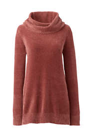 Women's Petite Chenille Tunic Sweater Cowl Neck