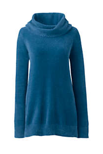 Women's Tall Chenille Tunic Sweater Cowl Neck, Front