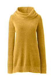 Women's Plus Size Chenille Tunic Sweater Cowl Neck