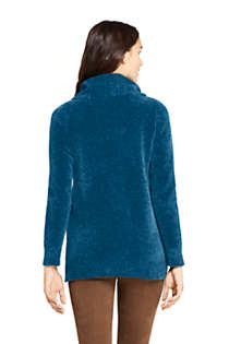 Women's Chenille Tunic Sweater Cowl Neck, Back