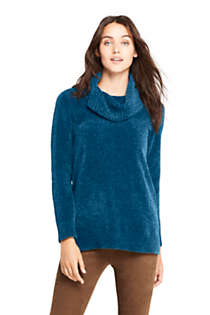 Women's Chenille Tunic Sweater Cowl Neck, Front