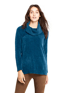 Women's Chenille Cowl Neck Sweater
