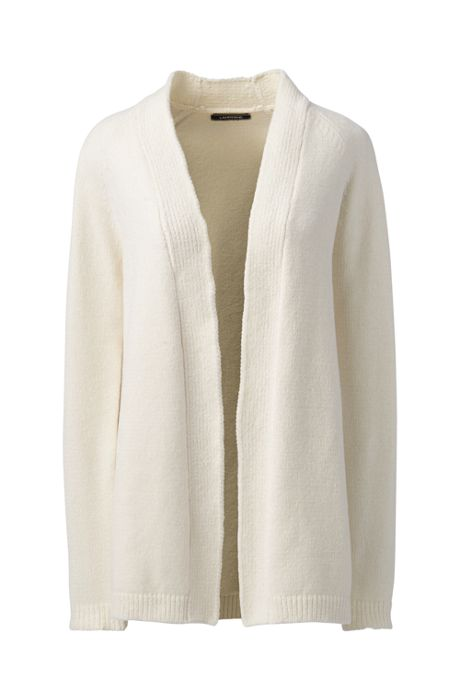 Women's Petite Chenille Open Cardigan Sweater