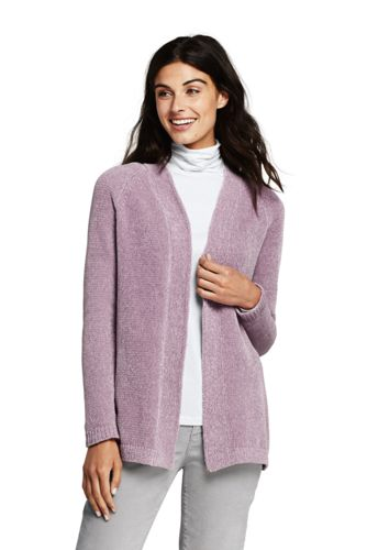 Offener Chenille-Cardigan