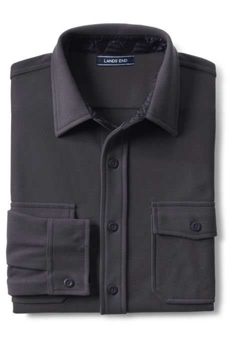 Men's Tall Traditional Fit Fleece Chamois Shirt