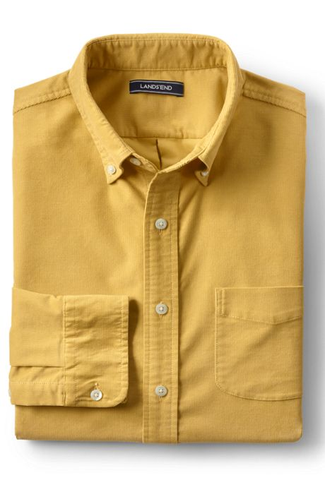 Men's Traditional Fit Stretch Corduroy Shirt
