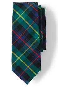 Men's Long Silk Wool Tartan Tie