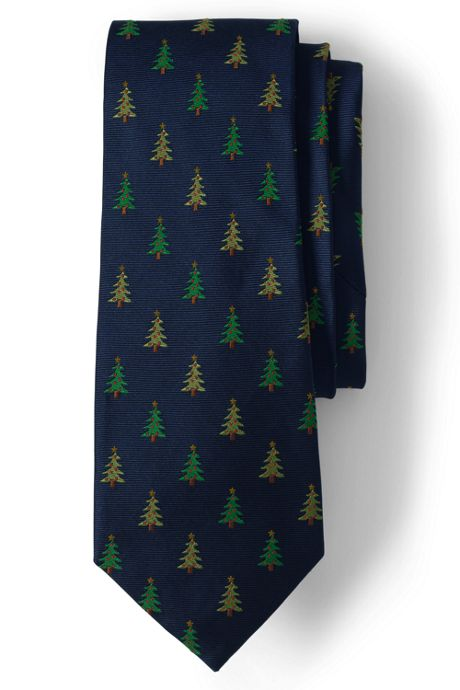 Men's Long Christmas Tree Tie