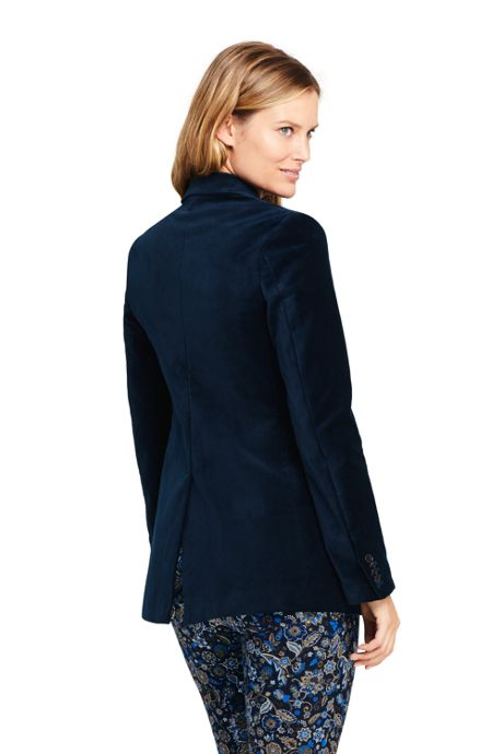 Women's Petite Velvet Blazer