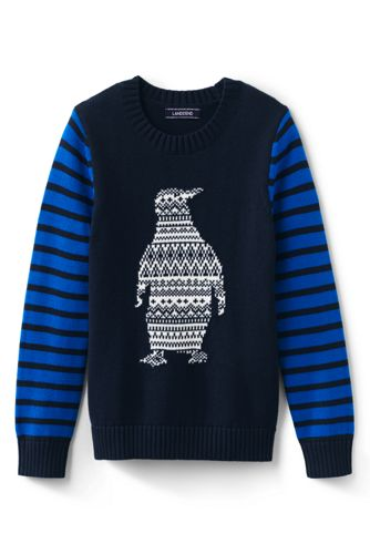 Toddler Boys' Penguin Pattern Cotton Jumper